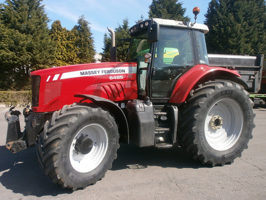 Tractors (89kW and more) from 120hp Massey Ferguson 6495