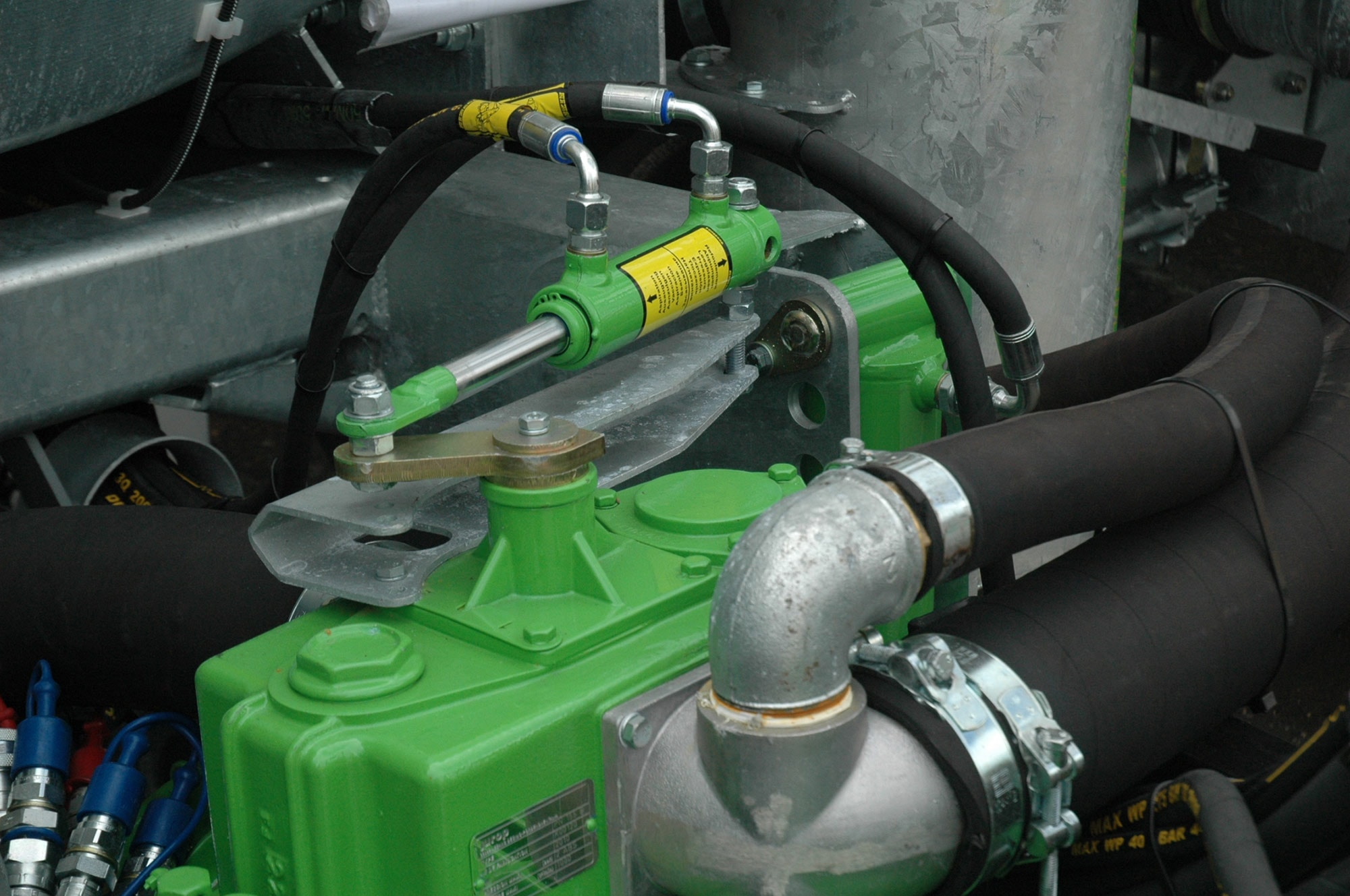 Slurry Tanker Changeover Handle Shut Off Valve MEC Vacuum Pumps Slurry Tankers