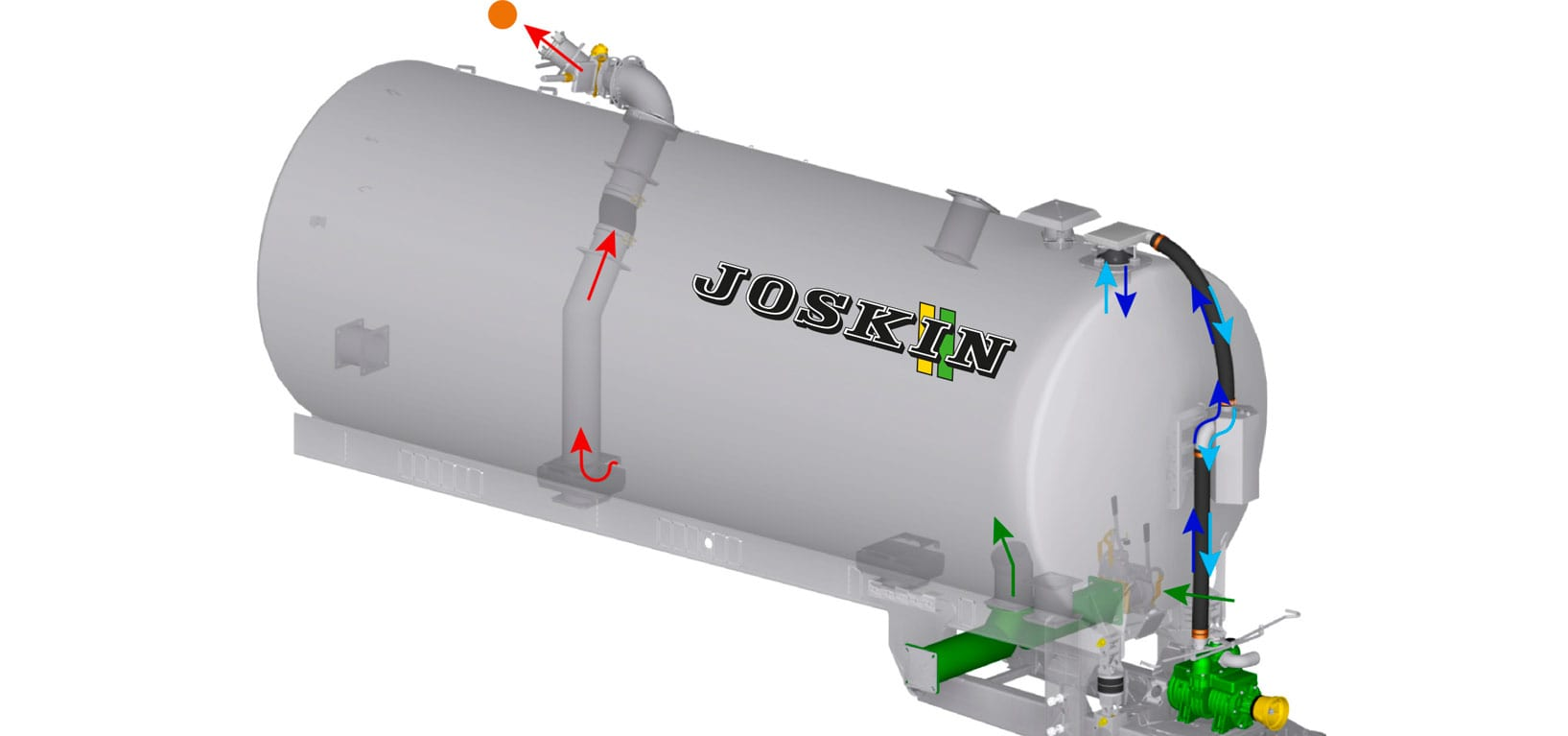 slurry spreader - Pumping system - JOSKIN