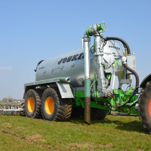 Double-axle with high volumes for all your intensive works