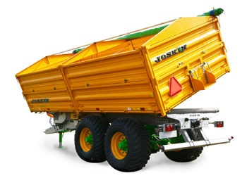Tipping trailers with drop sides delta-cap