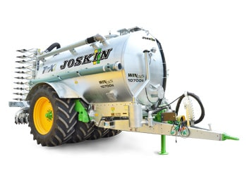 • Compact single-axle slurry spreader.<br/> • Fitted with 4 parallel wheels.